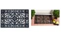 """Home & More Utopia 24"""" x 36"""" Rubber Doormat"""