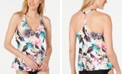 Island Escape Fresh Bloom Underwire Tankini Top, Created for Macy's