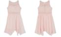 BCX Big Girls Lace Handkerchief Hem Dress