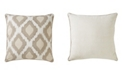"Jaipur Living Nikki Chu By Venus Beige/White Ikat Poly Throw Pillow 22"""