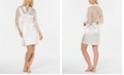 Linea Donatella Ivory Lace-Back Short Wrap Robe