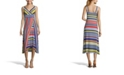John Paul Richard Multistripe Sleeveless Dress