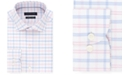 Tommy Hilfiger Men's Big & Tall Slim-Fit THFlex Stretch Non-Iron Moisture-Wicking Pink Check Dress Shirt