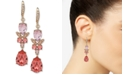 Givenchy Multi-Crystal Double Drop Earrings