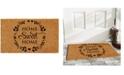 """Home & More Sweet Wreath 17"""" x 29"""" Coir/Vinyl Doormat"""