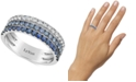 Le Vian Blueberry Layer Cake Blueberry Sapphires (9/10 ct. t.w.) Ring in 14k White Gold