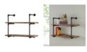 Danya B Two Tier Industrial Pipe Wall Shelf
