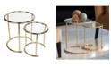 Danya B Nested Round End Side Tables - Set of 2