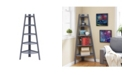 Danya B Decorative 5-Tier A-Frame Corner Ladder Display Bookcase