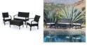 Noble House Cordoba Outdoor 4pc Seating Set, Quick Ship