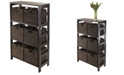 Winsome Granville 7Pc Storage Shelf with 6 Foldable Baskets