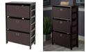 Winsome Torino 4-Pc Set Storage Shelf with Black Fabric Baskets