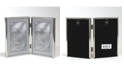 """Lawrence Frames Hinged Double Simply Silver Metal Picture Frame - 4"""" x 6"""""""