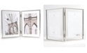 """Lawrence Frames Hinged Double Harland Silver Metal Float Frame - 4"""" x 6"""""""