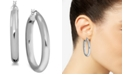 Essentials Polished Tube Medium Hoop Earrings