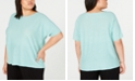 Eileen Fisher Plus Size Organic Boat-Neck Top