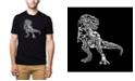 LA Pop Art Mens Premium Blend Word Art T-Shirt - Dinosaur