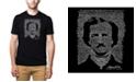 LA Pop Art Mens Premium Blend Word Art T-Shirt - Edgar Allen Poe - The Raven