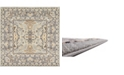 """Bridgeport Home Wisdom Wis2 Silver 8' 4"""" x 8' 4"""" Square Area Rug"""