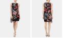 SL Fashions Floral-Print Chiffon Popover Dress