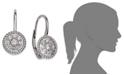 Macy's Diamond Rope Leverback Earrings in 14k White Gold (1/3 ct. t.w.)