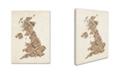 "Trademark Global Michael Tompsett 'United Kingdom II' Canvas Art - 14"" x 19"""