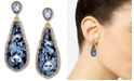 lonna & lilly Gold-Tone Faceted Blue Teardrop Earrings