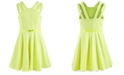Beautees Big Girls Belted Double-Strap Skater Dress