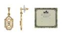 Downton Abbey Gold-Tone Crystal Post Drop Earrings