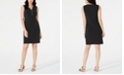 JM Collection Petite Sleeveless Zip-Neck Dress, Created for Macy's