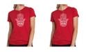LA Pop Art Women's Premium Word Art T-Shirt - Hamsa