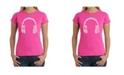 LA Pop Art Women's Word Art T-Shirt - Language Headphones