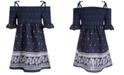 Bonnie Jean Little Girls Smocked Paisley-Print Dress