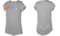 adidas Big Girls Rainbow Logo-Print T-Shirt