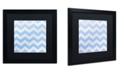 "Trademark Global Color Bakery 'Xmas Chevron 3' Matted Framed Art - 16"" x 16"""