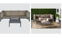 Safavieh Pieter 4-Pc. Outdoor Sectional with Coffee Table