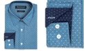 Nick Graham Men's Slim-Fit Performance Stretch Print Dress Shirt