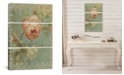"""iCanvas Rose on Sage by Danhui Nai Gallery-Wrapped Canvas Print - 60"""" x 40"""" x 1.5"""""""