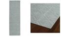 """Kaleen Imprints Modern IPM08-79 Light Blue 2'6"""" x 8' Runner Rug"""