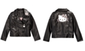 Hello Kitty Toddler Girls Embroidered Faux-Leather Jacket