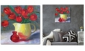 """Courtside Market Tulips II 16"""" x 16"""" Gallery-Wrapped Canvas Wall Art"""