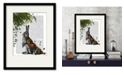 """Courtside Market Hare with Butterfly Cloak 16"""" x 20"""" Framed and Matted Art"""