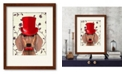 """Courtside Market Dachshund with Top Hat 16"""" x 20"""" Framed and Matted Art"""