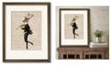 """Courtside Market Noble Violinist 16"""" x 20"""" Framed and Matted Art"""
