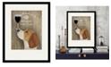 "Courtside Market Beagle Au Vin 16"" x 20"" Framed and Matted Art"