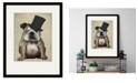 """Courtside Market English Bulldog, Formal Hound and Hat 16"""" x 20"""" Framed and Matted Art"""