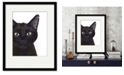 """Courtside Market Cat, Portrait of Gus 16"""" x 20"""" Framed and Matted Art"""