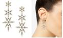 Eliot Danori Danori Gold-Tone Cubic Zirconia Triple Star Drop Earrings, Created for Macy's