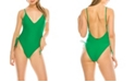Kendall + Kylie Side Rouche 1 Piece Swimsuit