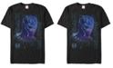 Marvel Men's Black Panther Neon Line Art Panther Short Sleeve T-Shirt